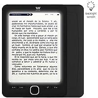 """Woxter Scriba 195 Paperlight Black - Lector de Libros electrónicos de 6"""" (1024 x 758, e-Ink Pearl, Pantalla RETROILUMINADA, EPUB, PDF, Micro SD, Guarda más de 4000 Libros, Textura engomada)"""