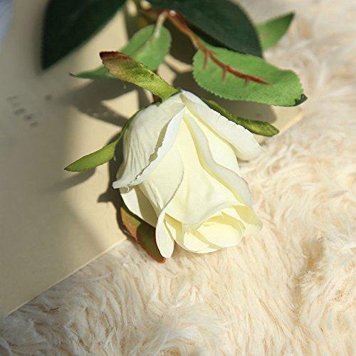 OHQ-Fausse Fleur Decoration Décoration Blanche Bleu Rose À Suspendre avec Vase Bouquet Boite Boule Cerisier Cheveux Cimetiere Coton Champetre Mariage Deco De Tiaré Soie Exterieur Exotique (E)