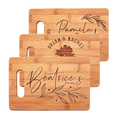 """Personalized Cutting Board, 15 Designs - Mothers Day Gifts, Anniversary Gifts for Couples, Housewarming Gifts, Bridal Shower, Wedding Gift for Her, Engraved Kitchen Sign - 9 X 6"""" Small"""