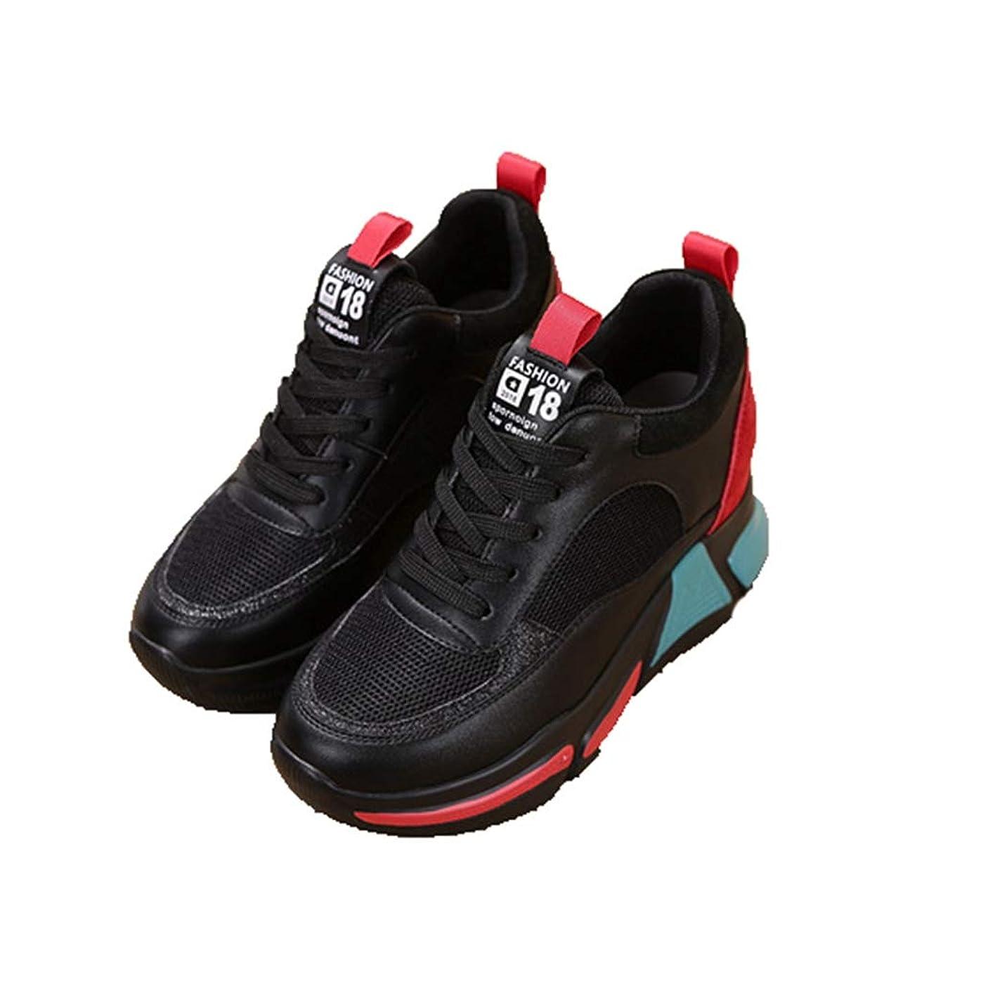 意欲抗生物質舌な[幸福マーケット] 運動靴 パッチワーク 厚底靴 レディース スニーカー クッション性 シークレットシューズ メッシュ 通気性 軽量 快適 美脚効果 お洒落 レースアップ ローカット スウェード 滑り止め 通学 普段使い