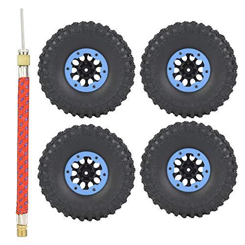 Cocosity Buje de Oruga RC, buje de Rueda RC, 4 Piezas 1.9 Pulgadas Jeep Wrangler Oruga para Accesorio de Coche RC Traxxas axial(Blue)