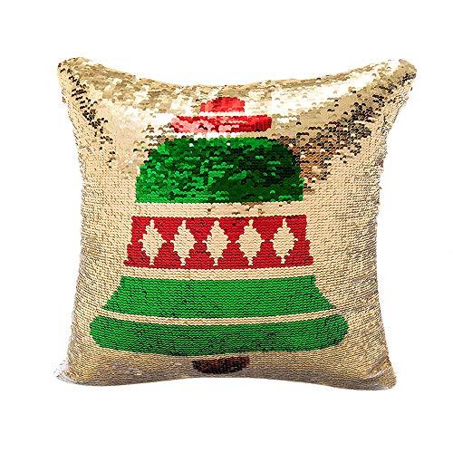 LILICAT Joyeux Noël Couleur Paillettes Paillettes Taie d'oreiller Café Home Decor Coussin Nouveau Design