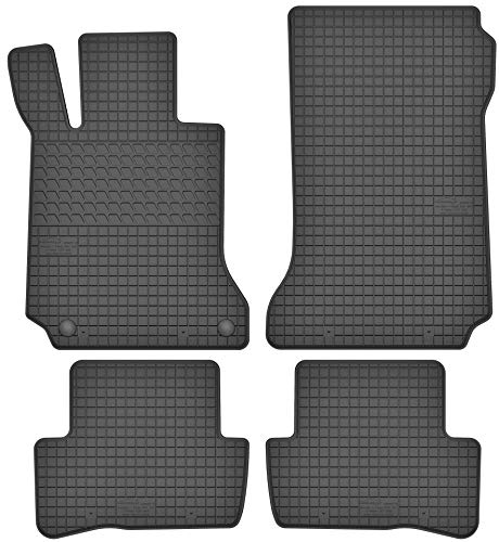 Motohobby Jeu de tapis de sol en caoutchouc pour Mercedes-Benz Classe C W204 (2007-2014) – Ajustement parfait.