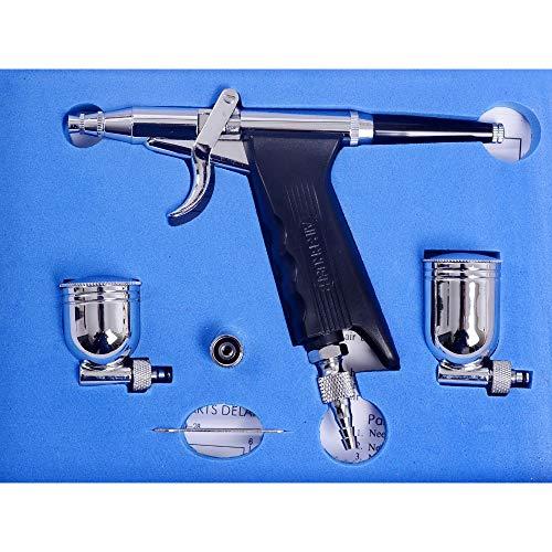 Pinkiou エアブラシ トリガー トリガーアクション エアブラシキット ハンドピース スプレーガン ノズル口径0.3mm 分離型カップ