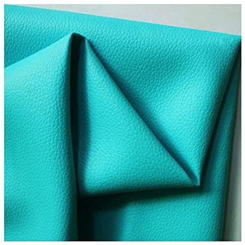 Tela por metros de polipiel Cuero Artificial Sillones de SalóN Piel para Tapizar 100x140cm Patrón de lichi Parche Kit ReparacióN Primeros Auxilios Hay Muchos Colo(Size:1x1.4M/3.3x4.6FT,Color:Azul)