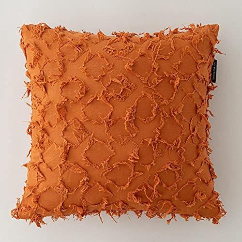 Almohada,Diseño ergonómico para un Mejor Soporte para Dormir en la Cabeza, el Cuello y los Hombros Almohada -Ardor Naranja_45 * 45cm