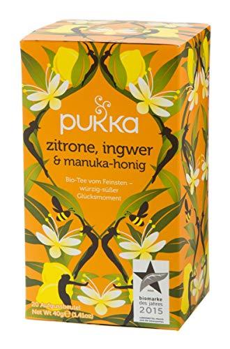 Pukka BIO Tee Zitrone, Ingwer & Manuka-Honig, 20 Beutel, 40g