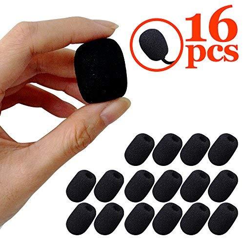 Espuma micrófono funda hulubb 16 unidades Mini micrófono micrófono parabrisas Esponja Mini Size (Color negro)