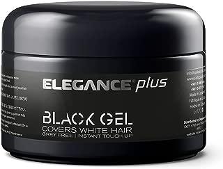Elegance Plus Gel and Color, Black, 3.5 Oz