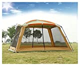 TAIYUANNT Tente Double Couche Anti-Pluie EXCEPTOIRE Sun-Sun-Sunding 4Corners Garden Arbour/Multiplayer Party Camping Tente/Auvent Shelter Anti-Mosquito Tente (Color : Kakhi)