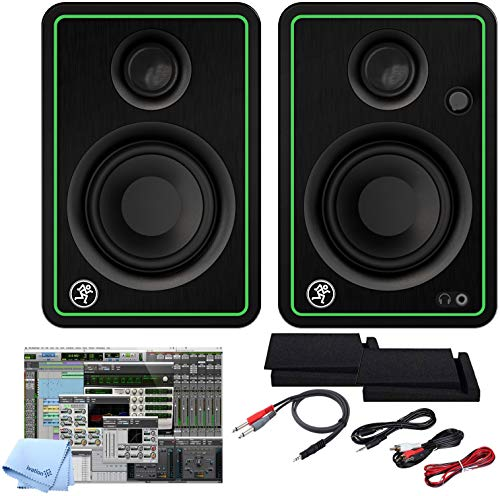 Fantastic Prices! Mackie CR5-X BT Five-Inch Creative Reference Multimedia Bluetooth Monitors Bundle ...