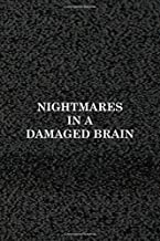 Nightmares In A Damaged Brain: Horror Notebook Journal Composition Blank Lined Diary Notepad 120 Pages Paperback Pink Black