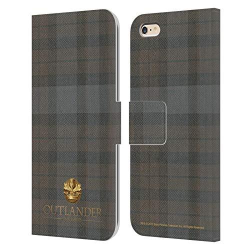 Head Case Designs Licenza Ufficiale Outlander Plaid Tessuto di Lana Scozzese Cover in Pelle a Portafoglio Compatibile con Apple iPhone 6 Plus/iPhone 6s Plus