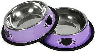 کاسه های گربه کوچک حیوانات خانگی غیر قابل لغزش ظرف های کوچک حیوان خانگی کوچک قابل شستشو ظرفیت مناسب کاسه بچه گربه با پایه لاستیکی قابل جدا شدن به راحتی تمیز کردن رنگ اختیاری دوست داشتنی