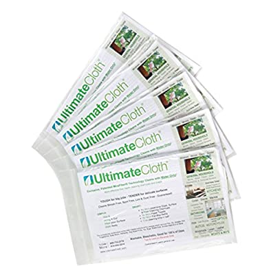 The Ultimate Cloth Advanced Microfiber Cleaning Cloth - Soft, Reusable, EcoFriendly Chemical Free Green Superior Multi-Surface Cleaning