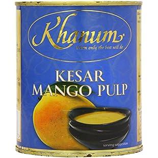Khanum Kesar Mango Pulp (Pack of 6):Comoparardefumar