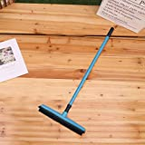 MorNon 48 Inch Long Handle Rubber Broom for Pet Dog Cat Hair Tile