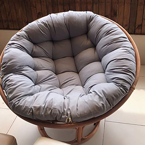 Hanging Basket Chair Pad,Round Wicker Rattan Chair Cushion,Soft THICKED Hammock Swing Seat Cushion,Papasan Throw Pillow Without Chair J 120x120cm(47.2x47.2inch)