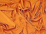 Minerva Crafts Slinky Jersey-Stoff, Orange, Meterware