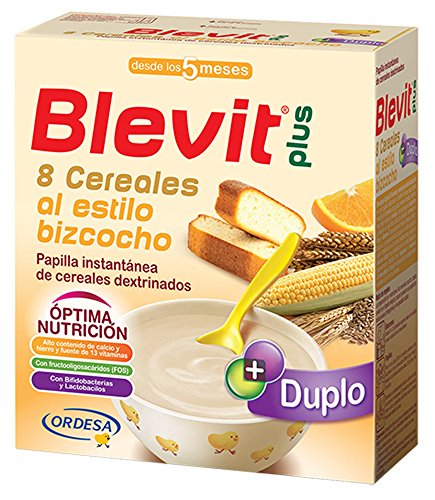 Blevit Plus Duplo 8 Cereales Al Estilo Bizcocho, A Partir de Los 5 Meses, 600g