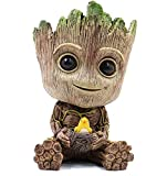 ZUSONUD Baby Groot Planter Pot Garden Decor Accessories Flower Pot with Drainage Hole Perfect for Tiny Succulents Plants 6'