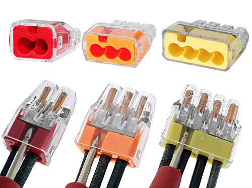 Ideal in-Sure 2-Port x25, 3-Port x25, 4-Port x25, Non-Twist Connector for Solid, Stranded, and Tin Bonded Wire