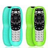 2 Pack Protective Case for DirecTV RC73 Remote Control,Silicone Cover Shock Proof Remote Controller Skin Sleeve Replacement Compatible with DirecTV RC70, RC70H, RC71, RC71H, RC72,RC73B-Turquoise,Green