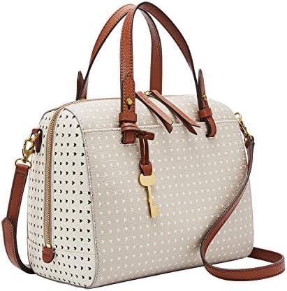 Fossil Women s Rachel Faux Leather Satchel Handbag Hearts product image
