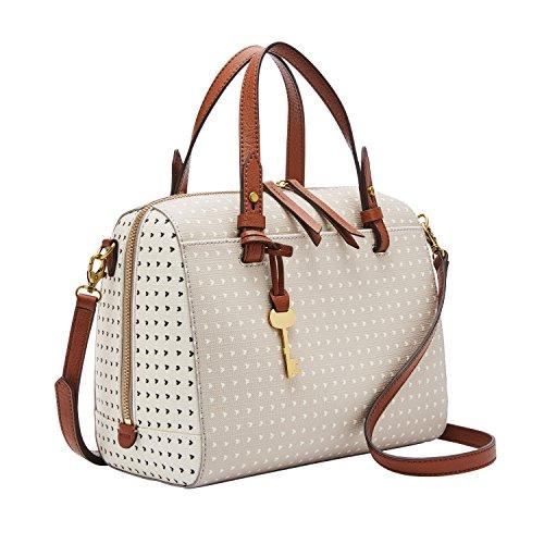 Fossil Women's Rachel Faux Leather Satchel Handbag, Hearts