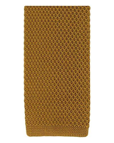 Michelsons of London Or soie tricoté maigre cravate de