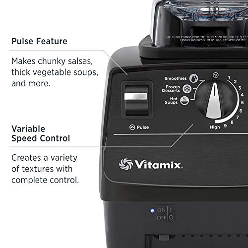 Vitamix Standard Programs Blender, Professional-Grade, 64oz. Container, Black (Renewed)