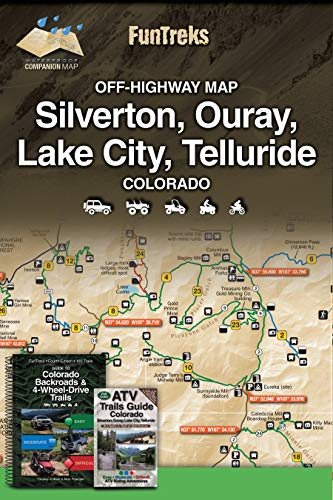 Off-Highway Map for Silverton, Ouray, Lake...