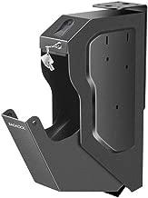 Gun Safe,Smart Handgun Safe Box Mounted Firearm Safety Device Pistol Safe Box with Biometric Fingerprint Lock /Digital Code & 2 Emergency Key
