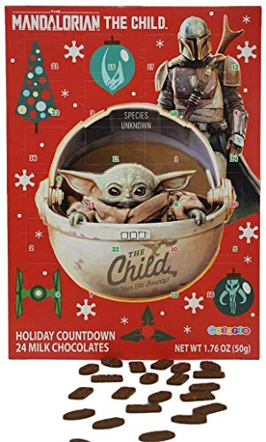 Mandalorian The Child Baby Yoda Milk Chocolate Candy Filled 2020 Christmas Advent Calendar, 13 3/4 Inch