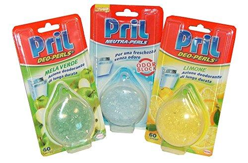 Set 16 PRIL Deodorant Spülmaschine Perlen 60 Waschungen Produkt Reinigungsmittel