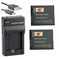 DSTE® アクセサリーキット Panasonic DMW-BCL7 DMW-BCL7E 互換 カメラ バッテリー 2個+USB充電器キット対応機種 Lumix DMC-SZ3GK F5 FH10 FS50 FH50 SZ3 SZ9 XS1 XS3