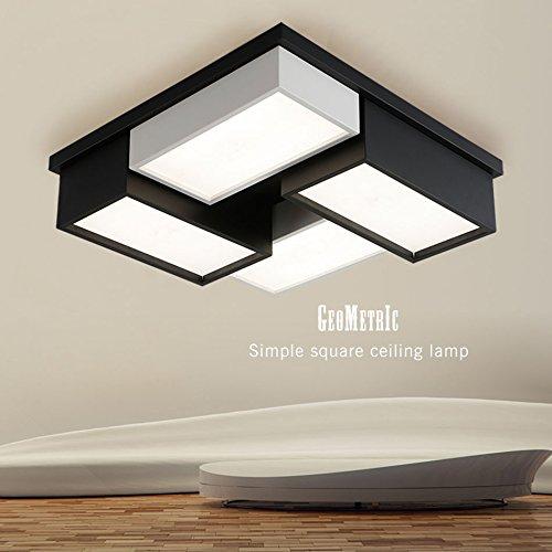 GPZ-iluminación de techo Lámpara de Techo LED, Lámpara de Dormitorio Cuadrada Lámpara de Techo Moderna Minimalista Personalidad Lámpara de Sala de estar de Moda LED Creativo Restaurante Iluminación Ho