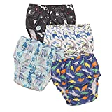 Baby Boys' Waterproof Pants,Soft and Quiet - Plastic Pants for Toddlers,2-5T,Covers for Training Pants(2T)