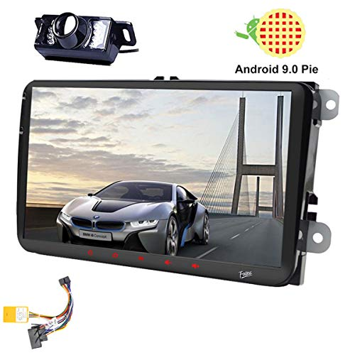 9 Pulgadas Android 9.0 Doble 2Din DSP Head Unit para VW Estéreo Golf Jetta Passat Polo En el Tablero Receptor de Radio para automóvil RDS Canbus 4 Core Navegación GPS Radio Estéreo Cámara de Reserva