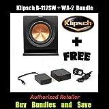Klipsch R-112SW 12'' Reference Series Powered 600 Watt Subwoofer + Klipsch WA-2 Wireless Subwoofer Kit