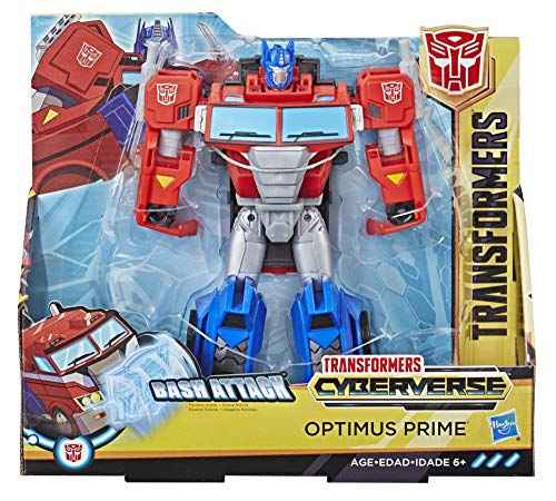 Transformers Spielzeuge Cyberverse Action Attackers Ultra-Klasse Optimus Prime Action-Figur – Wiederholbare Bash Action Attacke – Für Kinder ab 6 Jahren, 19 cm