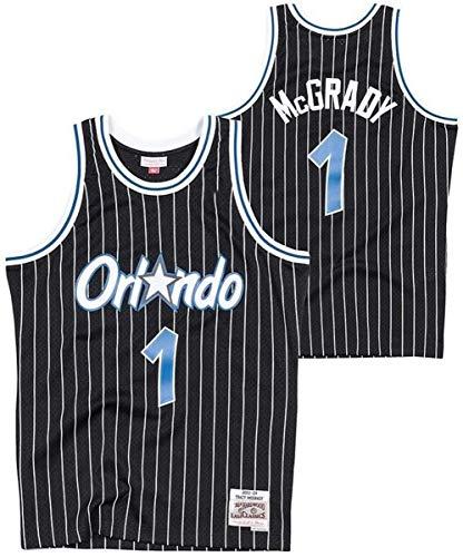 WSUN Maglia da Basket NBA Orlando Magic 1# Tracy McGrady Retro all-Star Jersey Tessuto Traspirante Swingman T-Shirt da Uomo Jersey,XL