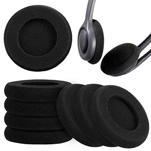 8 Almohadillas Espumas de Auriculares de 2 Pulgadas Cubiertas de Espuma Esponja de Sonido de Repuesto Almohadillas de Oídos para Reparación de Auriculares Mayoría de Tamaño Estándar