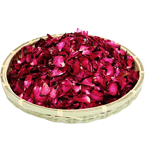 Dried natural real red rose flower petals for Wedding party decoration Wedding...