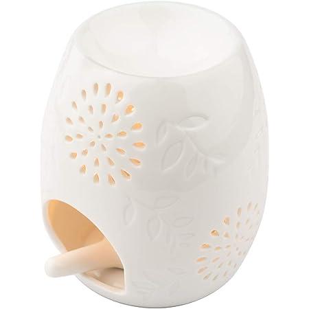 Locisne Ceramic Hollowing Floral Aroma Lamp Oil Diffusore Forno Romaterapia Ceramica Bruciatore di Incenso Olio Candela Fornello Tea Light Holder Portacandele