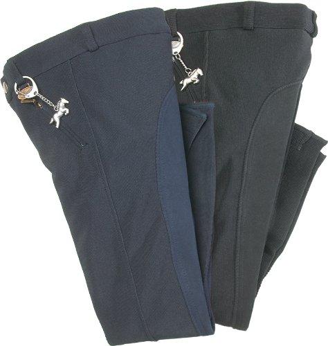 USG Two Tone - Dos de Pantalones de hípica Infantil, tamaño 122 UK, Color Negro/marrón