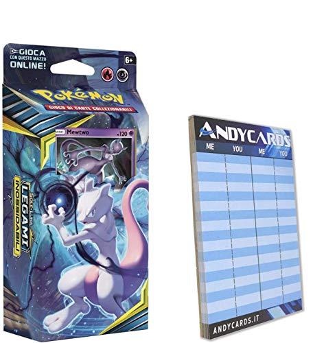 Andycards MewTwo - Baraja de 60 cartas de Pokémon en italiano +...