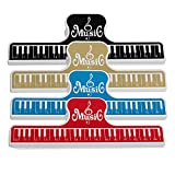 RICISUNG 楽譜 クリップ 4本 セット クリップ ページクリップ 楽器パーツ ピアノ グッズ 音楽 本 ページ 押さえ ページクリップ プラスチック製 4色