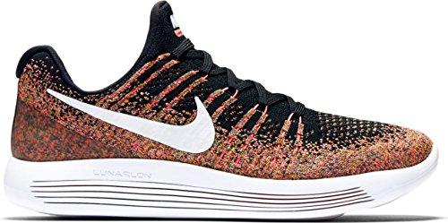 Nike W Lunarepic Low Flyknit 2 - Black/White-hot Punch-universi, Größe:7