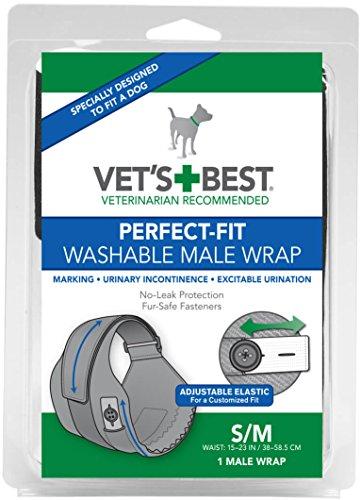 Vet's Best Perfekt-Fit Windeln für Rüden, S/M ist für Hunde mit einer 38 - 58,5cm Taille